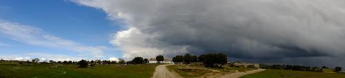 A tempestade chega