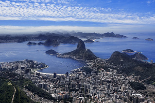 View Of Sugarloaf Mountain, Botafogo And The City of Rio De Janeiro, Brazil, South America | by :: Artie | Photography ::