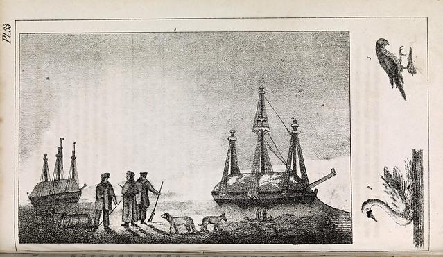 Pl. 33. Parrys første Reise og Vinterophold paa Öen Melville