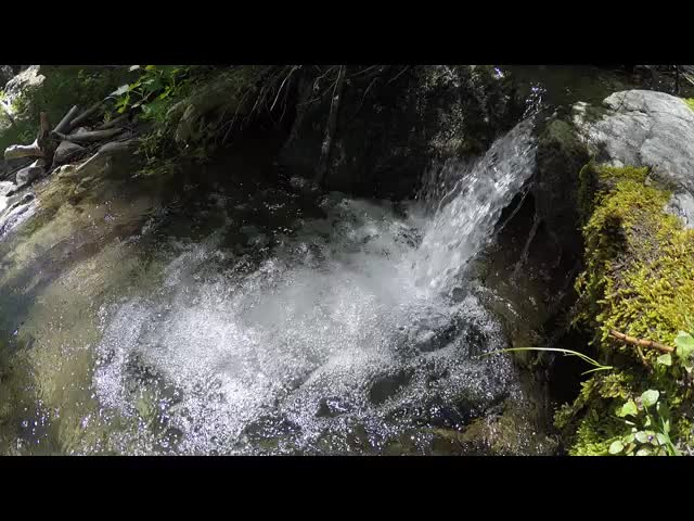 280 Video of a small waterfall and bubbling pool on Alger Creek