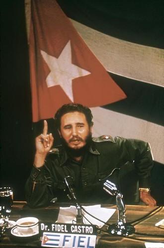 Andrew Saint-George. 1959. Fidel CASTRO at Palacio Municipal of Santa Clara before march toward Havana 4