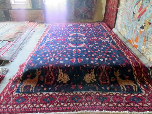 8a Antique Bakhtiari Persian Rug Deer Rabbits 1200