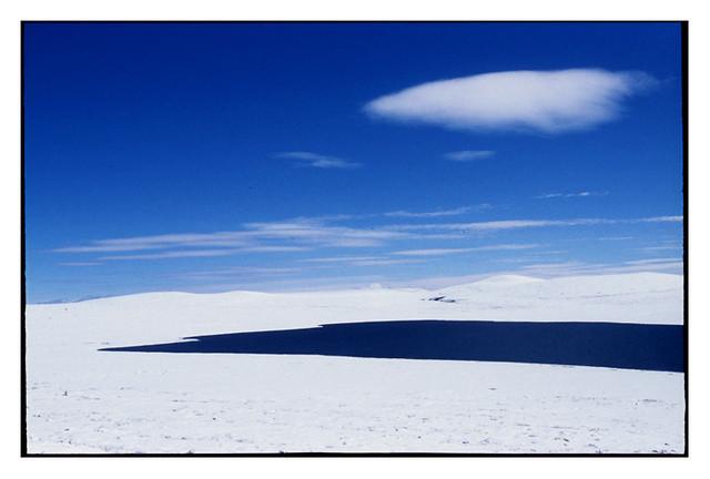 lake, cloud and snow