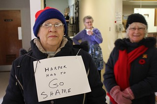 Demonstration at Thunder Bay Veterans Affairs Office | by BruceHyerMP