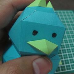 วิธีทำของเล่นโมเดลกระดาษรูปนก (Bird Paper craft ) 027