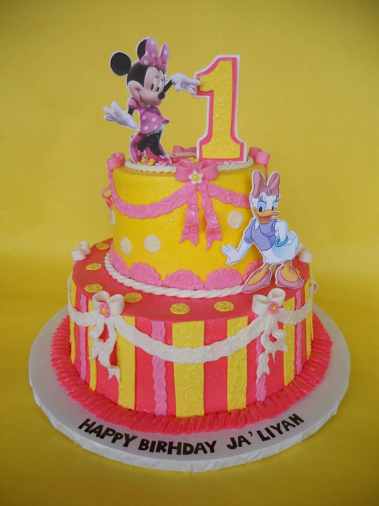 Miraculous Minnie And Daisy Birthday Cake Amy Stella Flickr Personalised Birthday Cards Vishlily Jamesorg