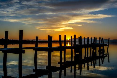 Sunset on the Salton Sea