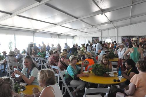 In the WWOZ Hospitality Tent. Photo by Kichea S Burt.