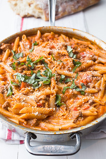 One-Pot Creamy Sausage Pasta   by Smells Like Home