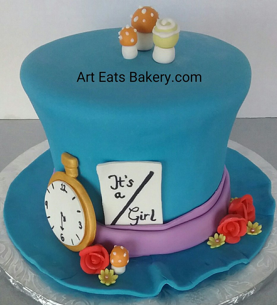 Peachy Great Alice In Wonderland Birthday Cake Design Ideas Flickr Personalised Birthday Cards Cominlily Jamesorg
