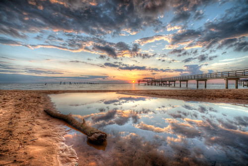 sunset clouds reflections pier day cloudy gulfcoast mobilebay nikond800 siteunreal sitecoastal