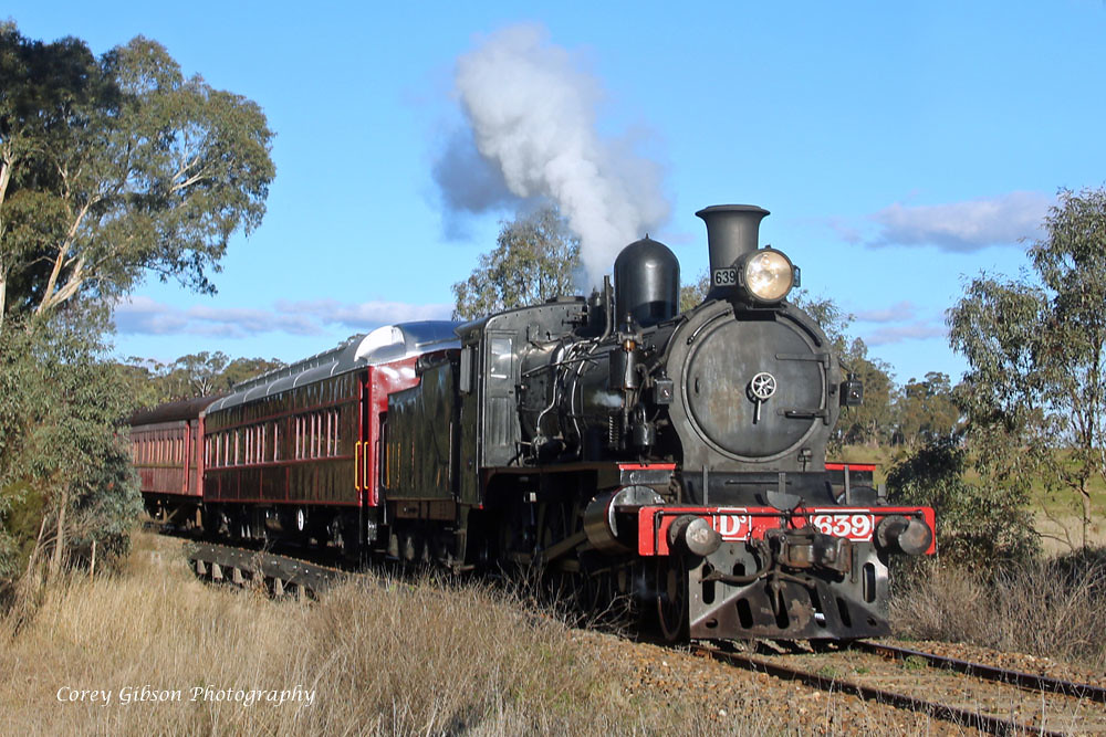 Steamrail D3 639 at Muckleford Rd by Corey Gibson