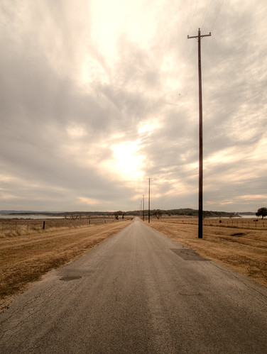 road winter nature sanantonio rural landscape outdoors countryside scenery texas tx country dry overcast wideangle lonely hillcountry desolate hdr sparse