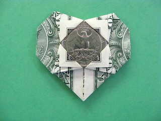 Maker Project: Origami Dollar Bill Heart - Joshua Paulus - Medium | 240x320