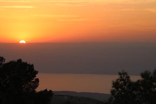 Sunset over Mount Nebo