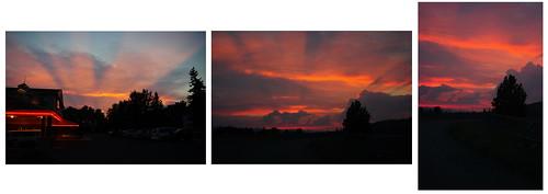 sunset red orange twilight montana missoula