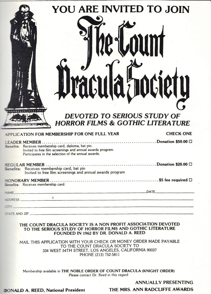 The Count Dracula Society | You are invited to join The Coun