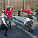 Maths Dance in the playground, Barnes Primary School, Spring Term 2013.