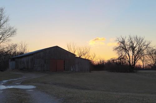 morning color tree night barn sunrise kentucky january clear louisville hdr gentle 2014