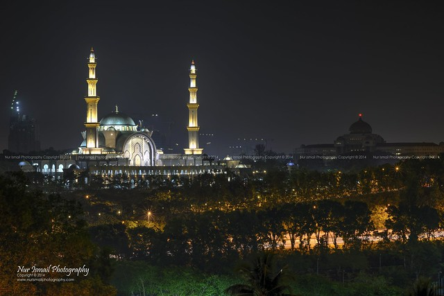 Federal Territory Mosque at Night