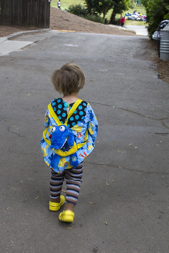 Sam with alligator backpack | by quinn.anya