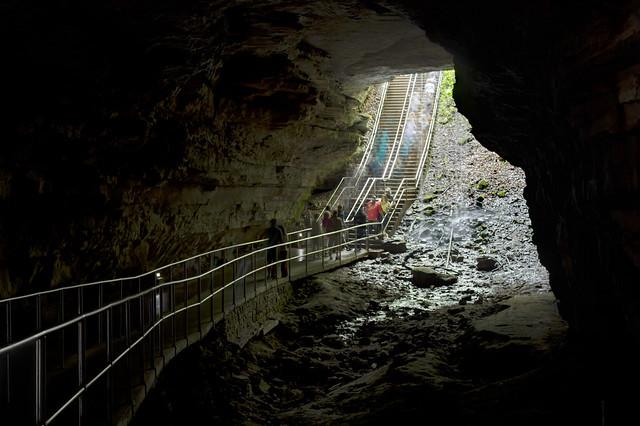 Historic Entrance twilight, Mammoth-Flint Ridge Cave System, Mammoth Cave NP, Edmonson Co, KY