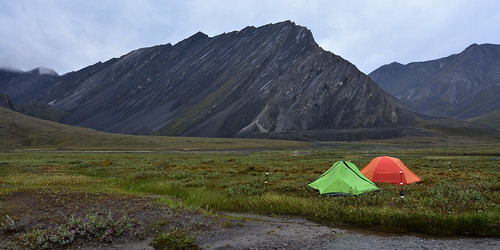 Camp below an unnamed mountain in Gates of the Arctic National Park. Central Brooks Range, Alaska | by Paxson Woelber