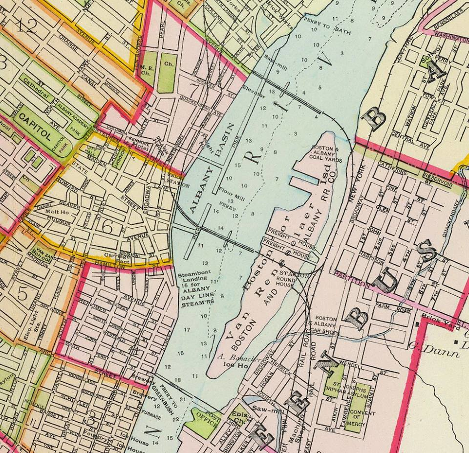 1891 debeers map of albany ny 1890s downtown | AlbanyGroup Archive ...