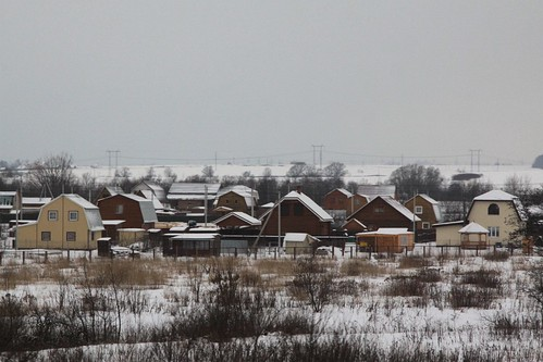 Dachas near the Pakhra River (Пахра́) south of Moscow