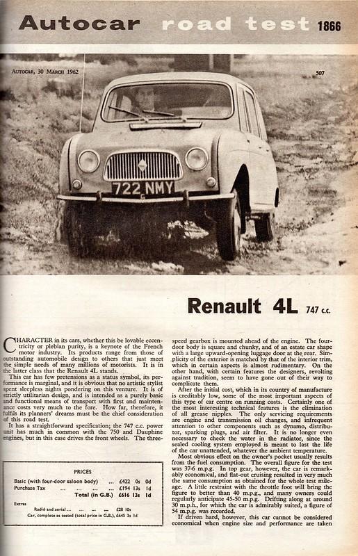 Renault 4 Road Test 1962 (1)