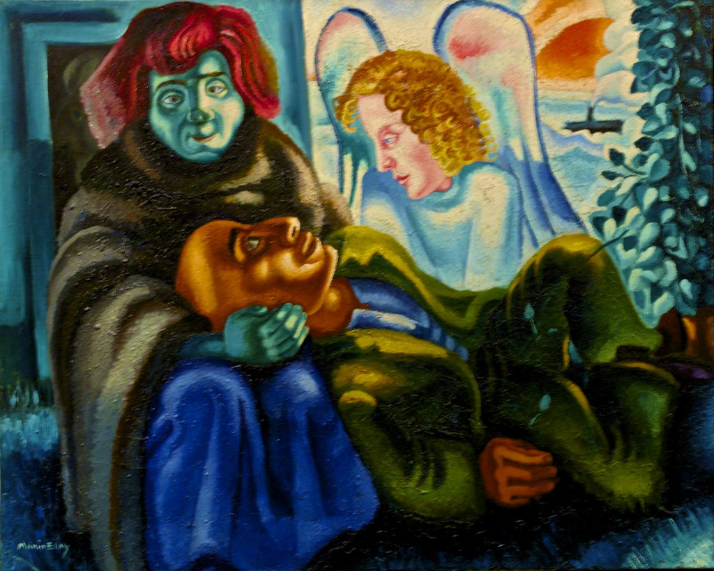 The poet and the angel (c.1938) - Mário Eloy (1900-1951)