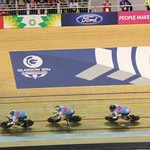 2014-07 Commonwealth Games Team Sprint Qualifying race