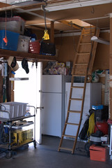 ladder to rik kretzinger loft-office above his garage