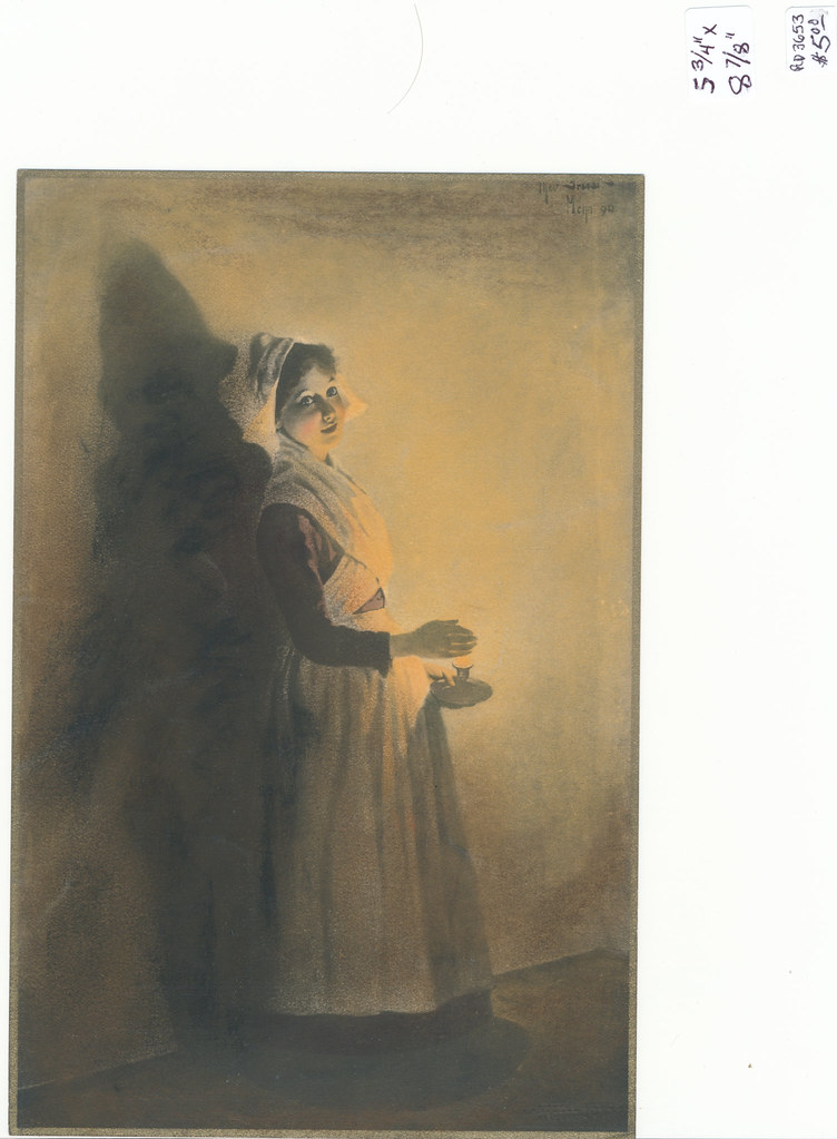RD3653 Campbell Art Co. Elizabeth, NJ - Woman with Lamp