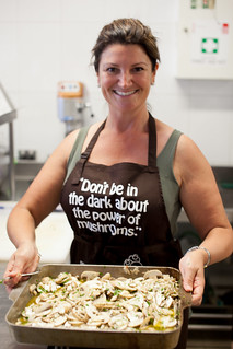 Dianne from Traveletto and her excellent marinated mushrooms | by Abstract Gourmet