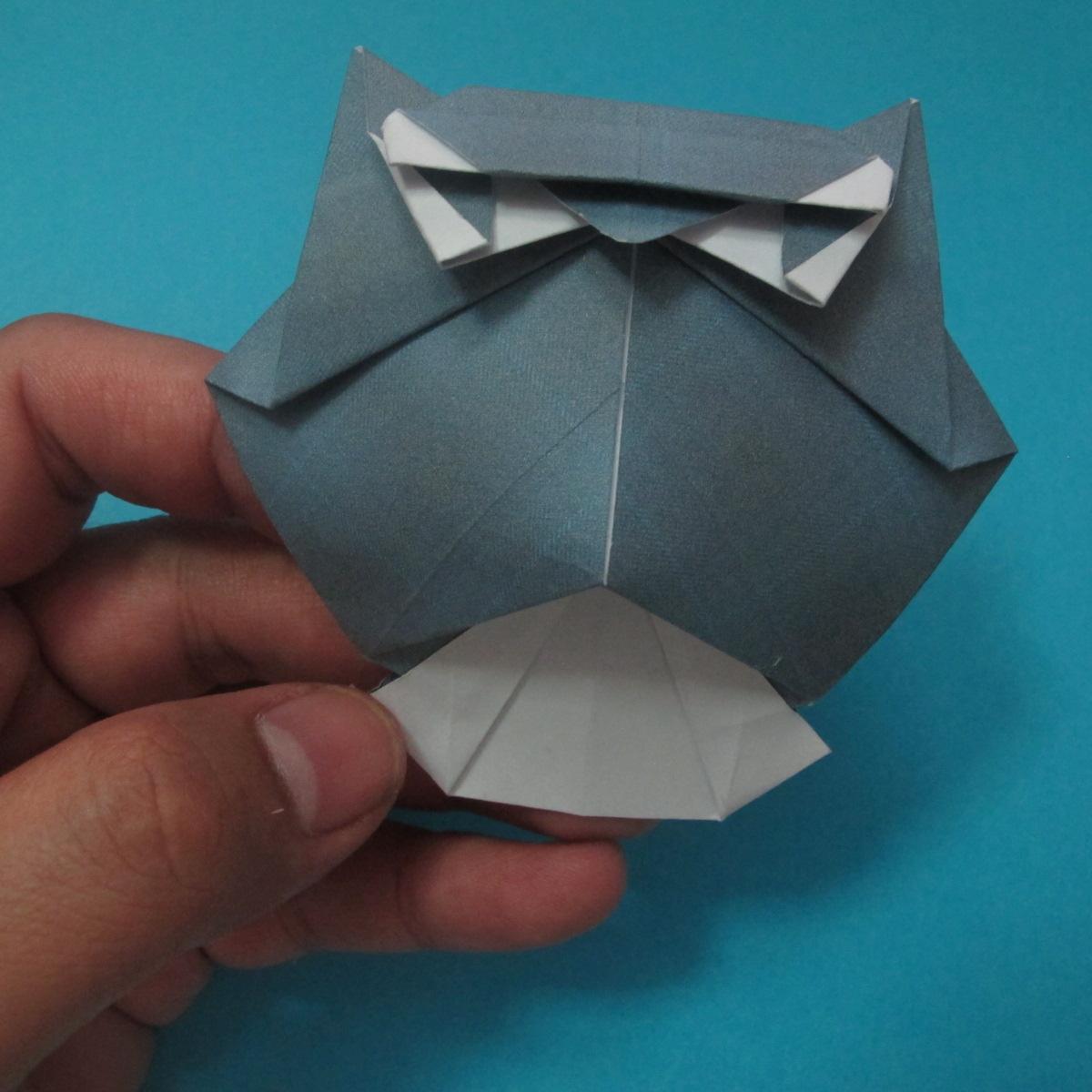 วิธีการพับกระดาษเป็นรูปนกเค้าแมว 037
