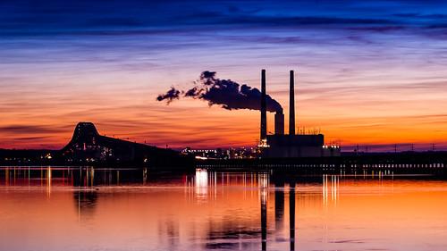 park bridge night sunrise river virginia nice md cloudy harry maryland potomac powerplant morgantown hdr newburg wayside