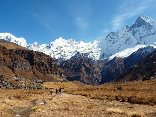 Trekking to Annapurna base camp, Nepal
