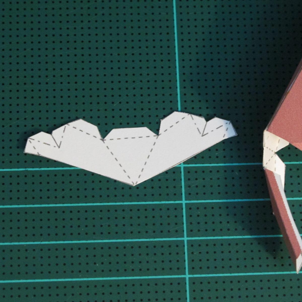 วิธีทำโมเดลกระดาษเรขาคณิตรูปกระต่าย (Rabbit Geometric Papercraft Model) 008