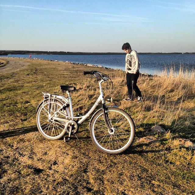 Port Zelande Pays Bas Kid 2014 and his Bike