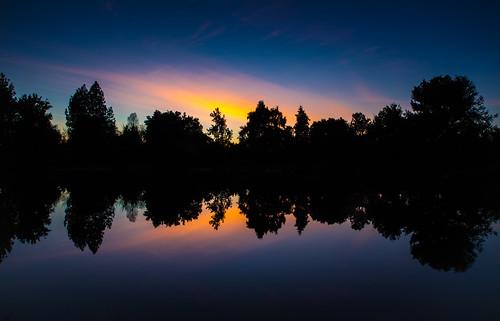 california sunset color reflection water colors night creek canon university arboretum direction davis f4 6d putah 24105 pwpartlycloudy hungben12