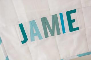 Jamie's improv baby quilt