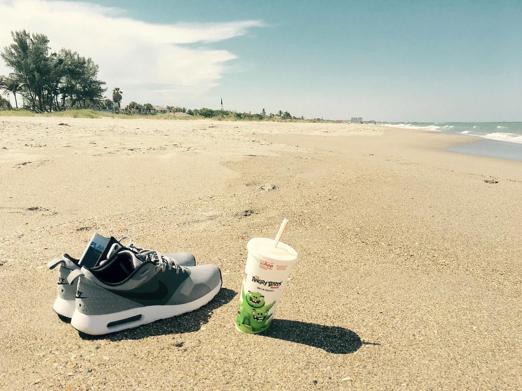 Relaxing At The Beach Nike Air Max Tavas Grey Cocoa Beach