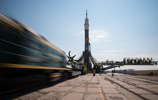 Expedition 48 Soyuz Rollout (NHQ201607040138)   by NASA HQ PHOTO
