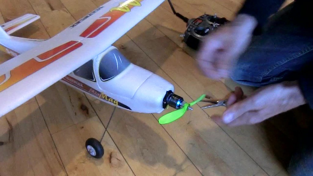 Testing a 3D-printed propeller on an RC airplane   The 3D pr