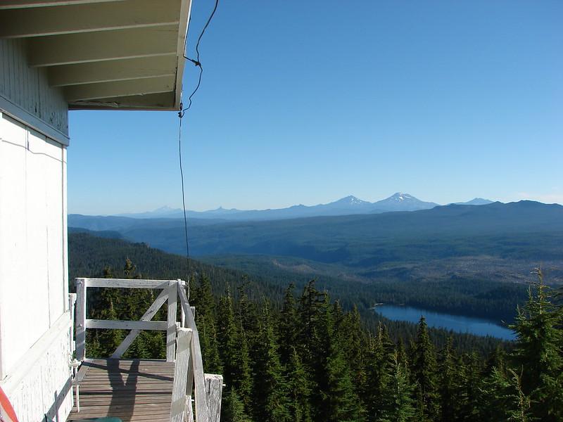 Mt. Hood, Mt. Jefferson, Three Fingered Jack, Mt. Washington, The Three Sisters and Broken Top from Waldo Mountain