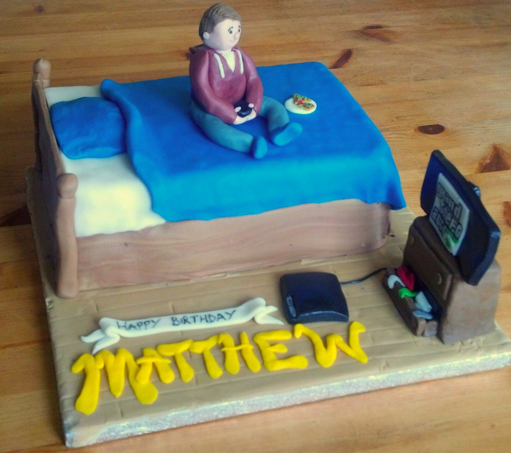 Teen Playing Playstation In Bedroom Cake