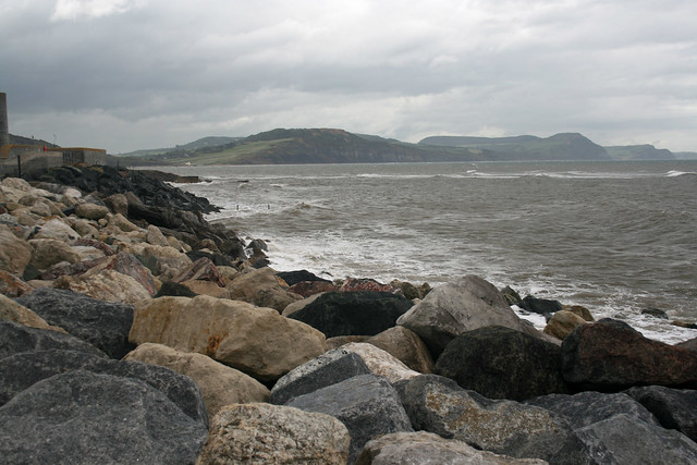 View east from Lyme Regis