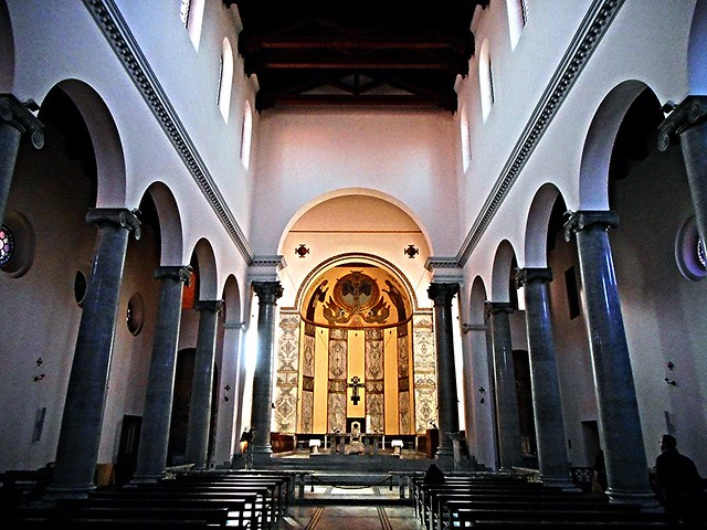 Sant'Anselmo Church at Aventino in Rome (1893-1900) - Architect Francesco Vespignani - Set of the movie by Paolo Sorrentino