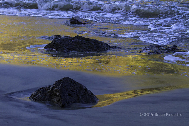 Liquid Gold Flowing On Pfeiffer Beach